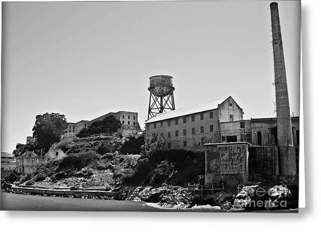 Historical Images Greeting Cards - Alcatraz Greeting Card by Dan Radi