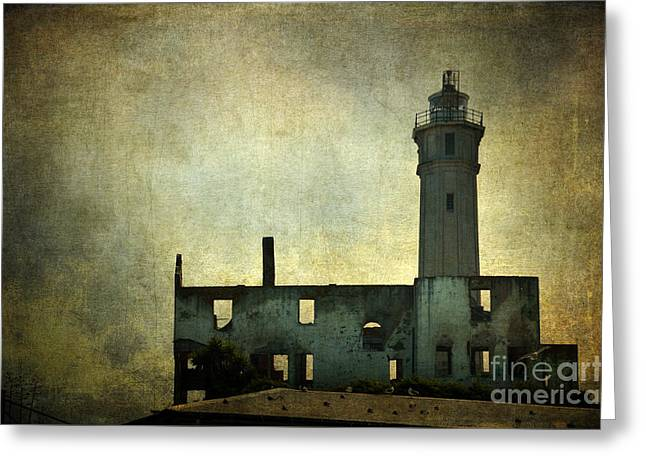 Alcatraz Greeting Cards - Alcatraz Island Lighthouse Greeting Card by RicardMN Photography