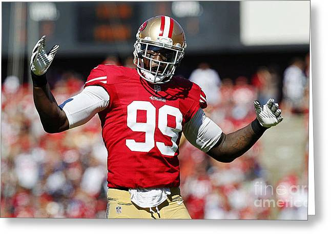 Wall Greeting Cards - Aldon Smith Greeting Card by Marvin Blaine