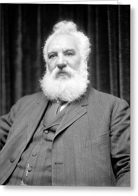Historical Speech Greeting Cards - Alexander G. Bell, Scottish-US inventor Greeting Card by Science Photo Library