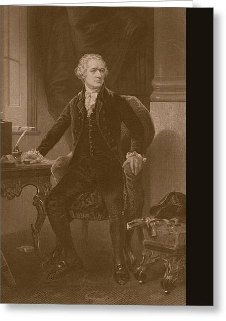 Treasury Greeting Cards - Alexander Hamilton Greeting Card by War Is Hell Store