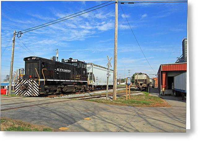 """rail Siding"" Greeting Cards - Alexander Railroad Greeting Card by Joseph C Hinson Photography"