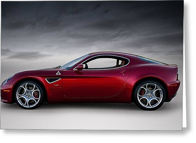 Extreme Greeting Cards - Alfa 8C Greeting Card by Douglas Pittman
