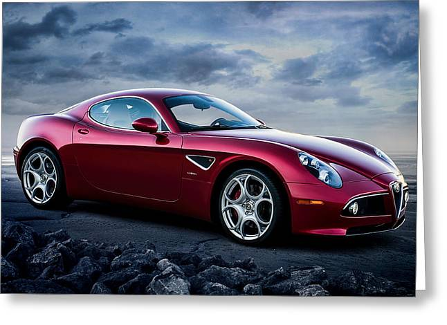 Extreme Greeting Cards - Alfa Romeo 8C Greeting Card by Douglas Pittman