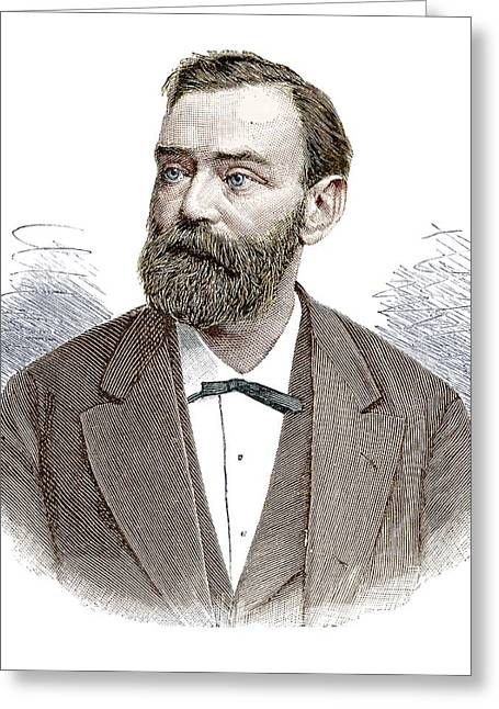 Alfred Nobel Greeting Card by Science Photo Library