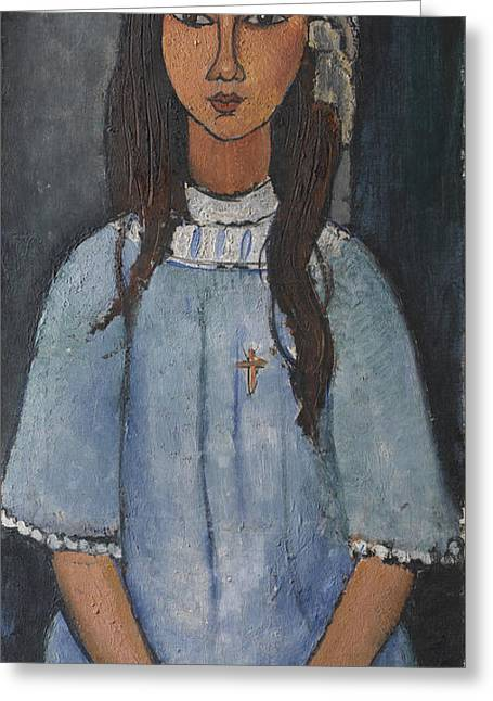 Modigliani Greeting Cards - Alice Greeting Card by Amedeo Modigliani
