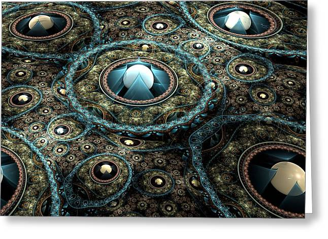 Intergalactic Space Greeting Cards - Alien Station Greeting Card by Svetlana Nikolova