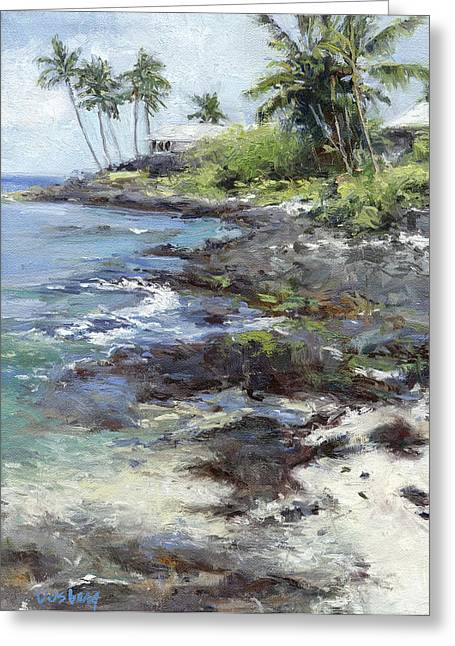 Recently Sold -  - Lahaina Greeting Cards - Alii Drive Homes Greeting Card by Stacy Vosberg