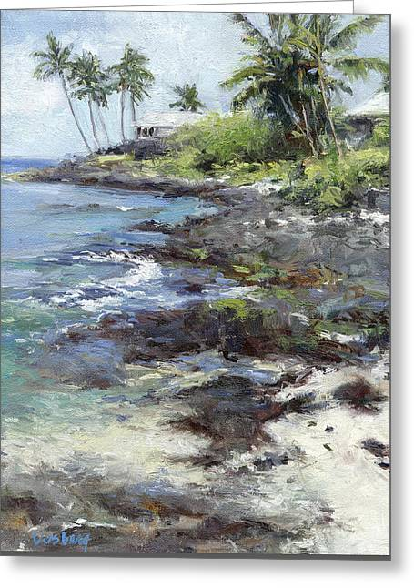 Ali'i Drive Homes Greeting Card by Stacy Vosberg