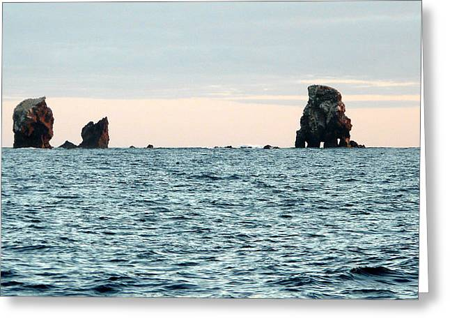 Wahoo Greeting Cards - Alijos Rocks at Sunset Greeting Card by Alex Mobile