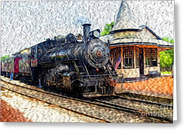 Paint Effect Greeting Cards - All Aboard Greeting Card by Paul W Faust -  Impressions of Light