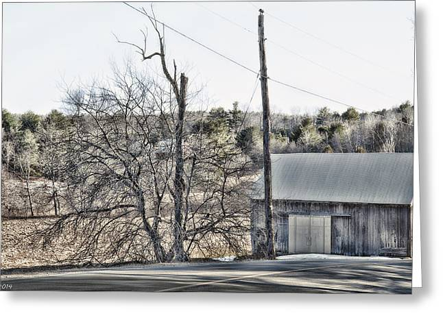 Rural Maine Roads Greeting Cards - All Roads Lead To Where We Go Greeting Card by Richard Bean