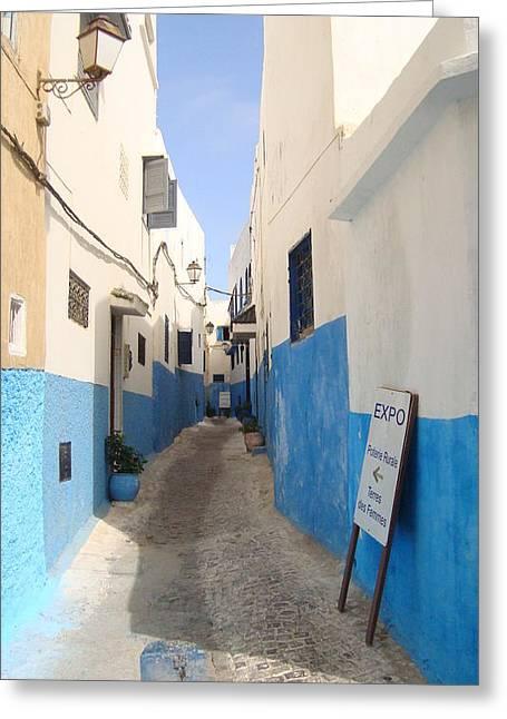 Rabat Greeting Cards - Alleyway in Rabat Greeting Card by Agnieszka Koseska