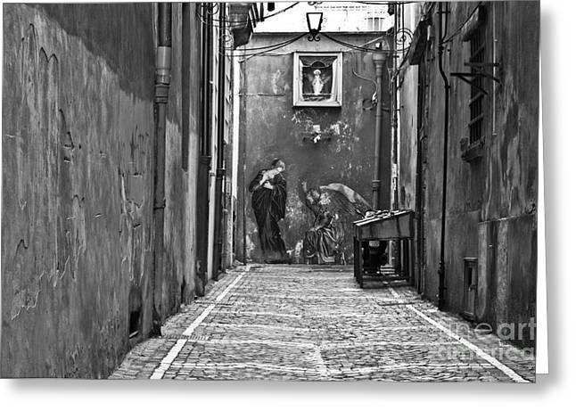 Naples Italy Greeting Cards - Alleyway Greeting Card by Marion Galt