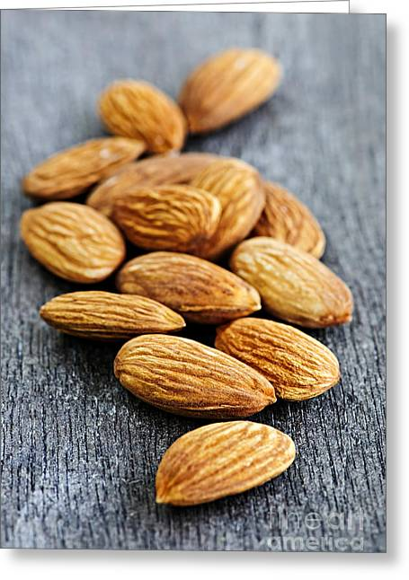 Scattered Greeting Cards - Almonds Greeting Card by Elena Elisseeva