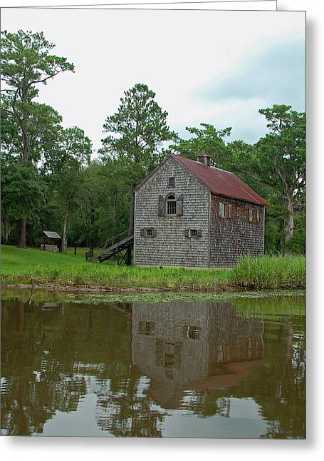 Wooden Building Greeting Cards - Along the Waccamaw Greeting Card by Suzanne Gaff