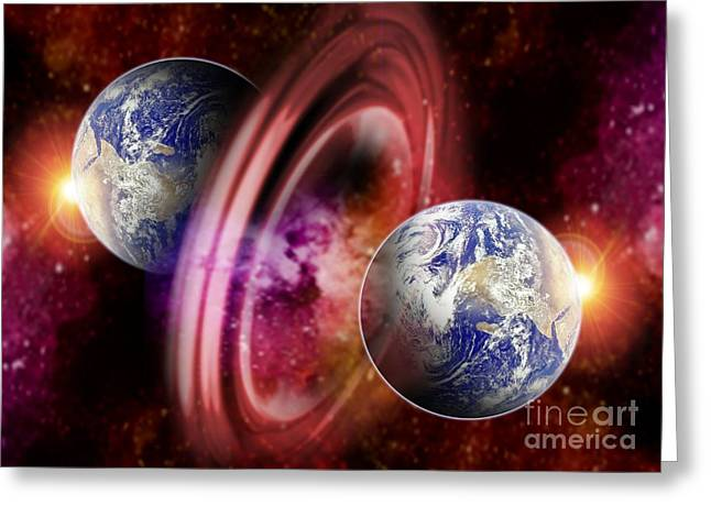 Alternate Universes Greeting Cards - Alternate Dimensions, Conceptual Artwork Greeting Card by Victor Habbick Visions