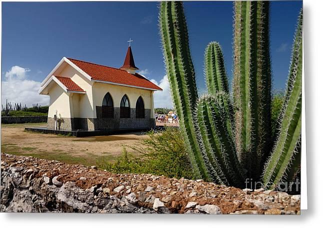 Aruba Greeting Cards - Alto Vista Chapel Aruba Greeting Card by Amy Cicconi