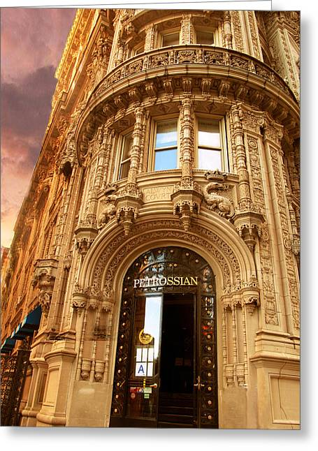Buildings Greeting Cards - Alwyn Court Greeting Card by Jessica Jenney