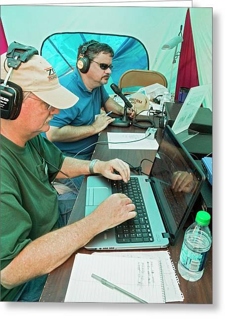 Amateur Radio Operators Greeting Card by Jim West