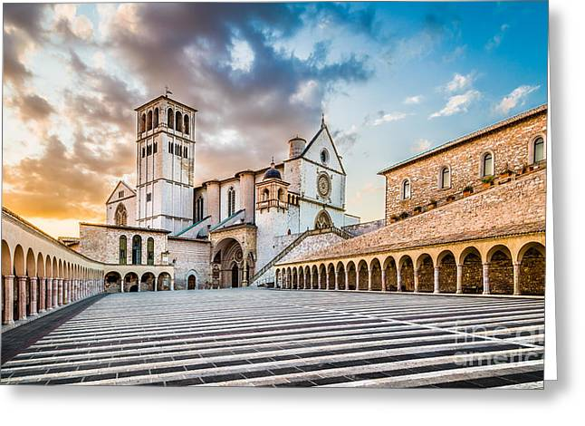San Francesco Greeting Cards - Amazing Assisi Greeting Card by JR Photography
