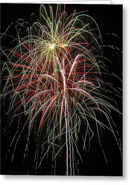 Fireworks Greeting Cards - Amazing Fireworks Greeting Card by Garry Gay