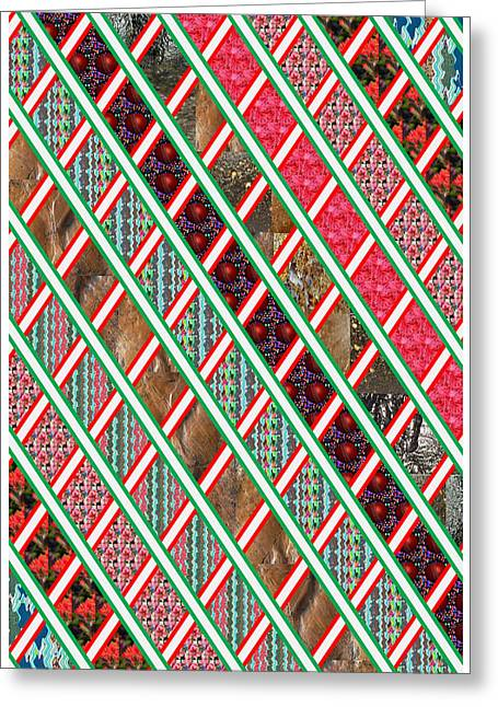 Experiment Greeting Cards - Amazing Tiled Decorations colorful textures patterns shapes flowers stones shades tones waves sensua Greeting Card by Navin Joshi