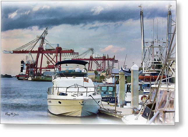 Barry Styles Greeting Cards - Boats - Dock - Amelia Island Boat Docks Greeting Card by Barry Jones