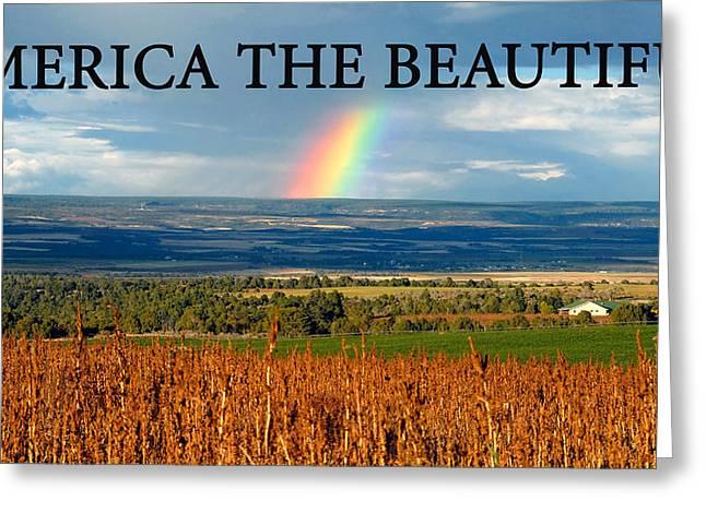 America The Beautiful Greeting Cards - America the Beautiful Greeting Card by David Lee Thompson