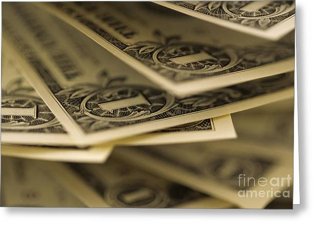 Americanism Greeting Cards - American Dollars Greeting Card by Jim Corwin