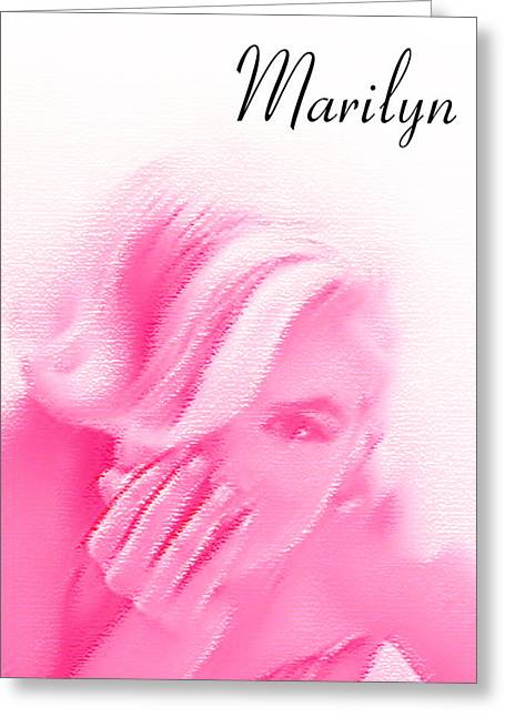 Norma Jean Baker Greeting Cards - American Icon # 2 Greeting Card by Lisa McKinney