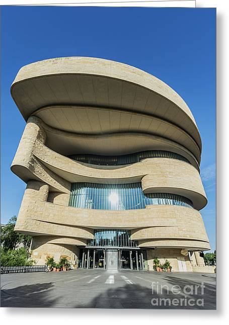 Curvilinear Greeting Cards - American Indian Museum Greeting Card by John Greim