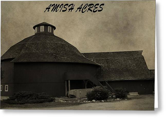 Red Roofed Barn Greeting Cards - Amish Acres Nappanee Indiana Greeting Card by Dan Sproul
