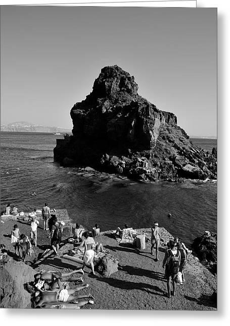 Santorini Greeting Cards - Ammoudi beach Greeting Card by George Atsametakis