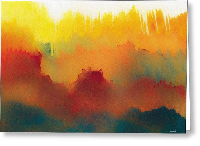 Bright Drawings Greeting Cards - Amorphous 20 Greeting Card by The Art of Marsha Charlebois