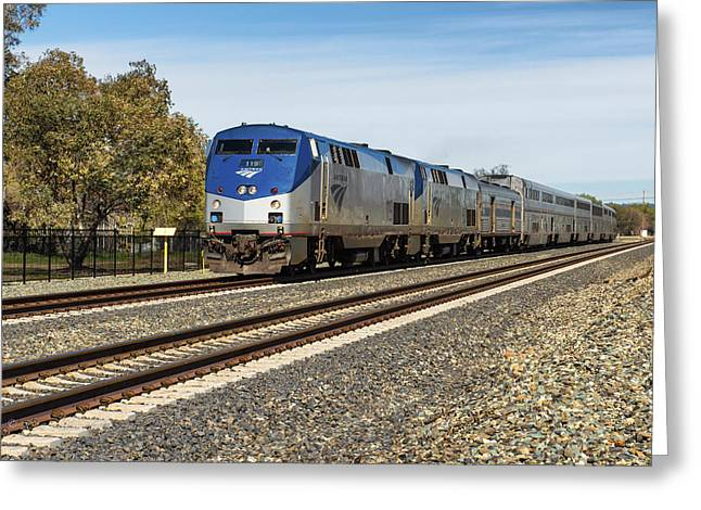 Union Pacific Greeting Cards - Amtrak 119 Greeting Card by Jim Thompson