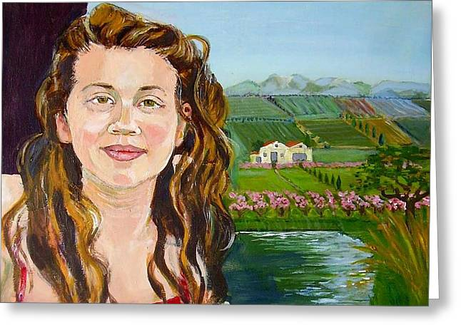 Catalunya Paintings Greeting Cards - Amy Greeting Card by Molly Farr