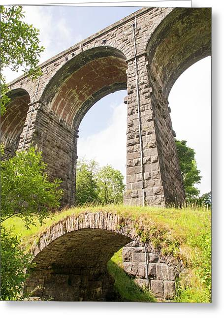 An Ancient Packhorse Bridge In Dentdale Greeting Card by Ashley Cooper