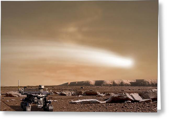 Space Dust Greeting Cards - An Artists Depiction Of The Close Pass Greeting Card by Marc Ward