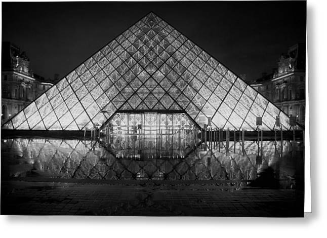 Louvre Greeting Cards - An Evening at the Louvre  Greeting Card by Mountain Dreams