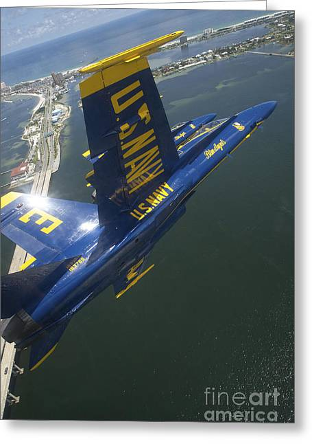 The Higher Planes Greeting Cards - An Fa-18 Hornet Of The Blue Angels Greeting Card by Stocktrek Images