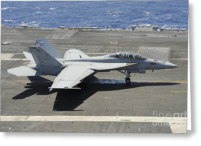 F-18 Greeting Cards - An Fa-18 Hornet Of The U.s. Navy Greeting Card by Remo Guidi