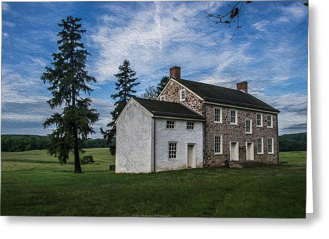 Philadelphia Framed Prints Greeting Cards - An Old House Greeting Card by Photos By Jeff