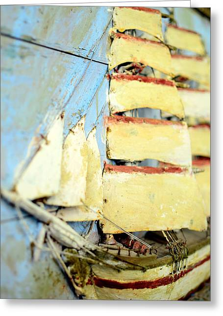 2d Greeting Cards - An old ship in full sail  Greeting Card by Toppart Sweden