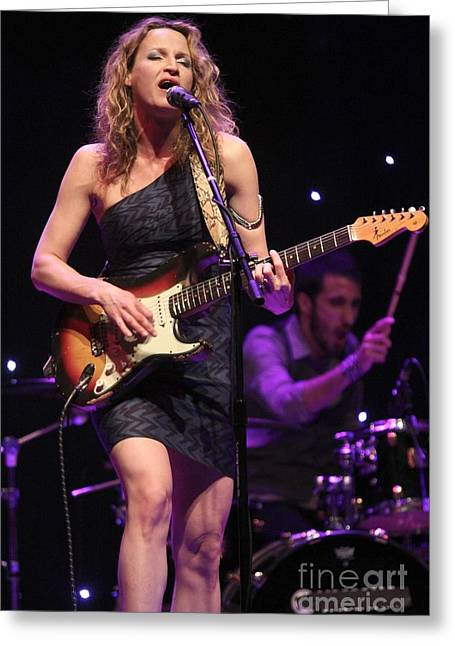 Guitarist Ana Popovic Greeting Card by Front Row  Photographs
