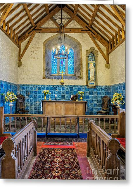 Tiled Digital Art Greeting Cards - Ancient Chapel Greeting Card by Adrian Evans