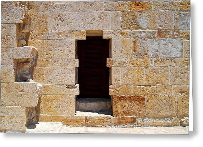 Outdoor Theater Greeting Cards - Ancient door  Greeting Card by Ivelina Angelova