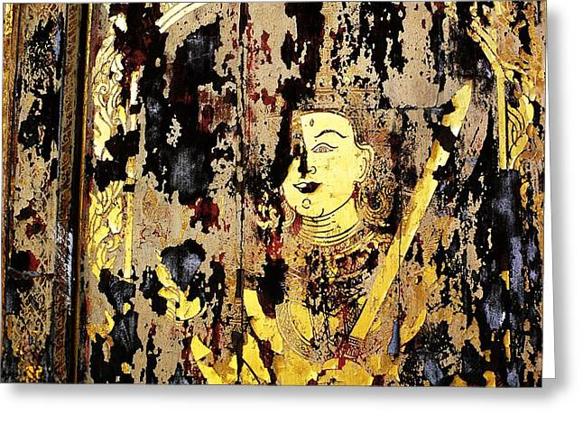 Suthep Greeting Cards - Ancient door Greeting Card by Mishel Breen