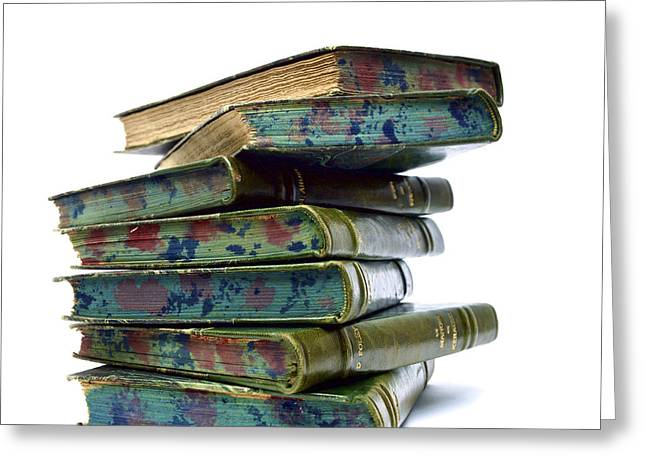 Ancient Pile Of Books. Greeting Card by Bernard Jaubert