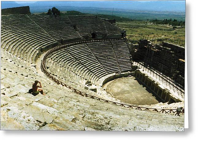 Ancient Civilization Greeting Cards - Ancient Theatre In The Ruins Greeting Card by Panoramic Images